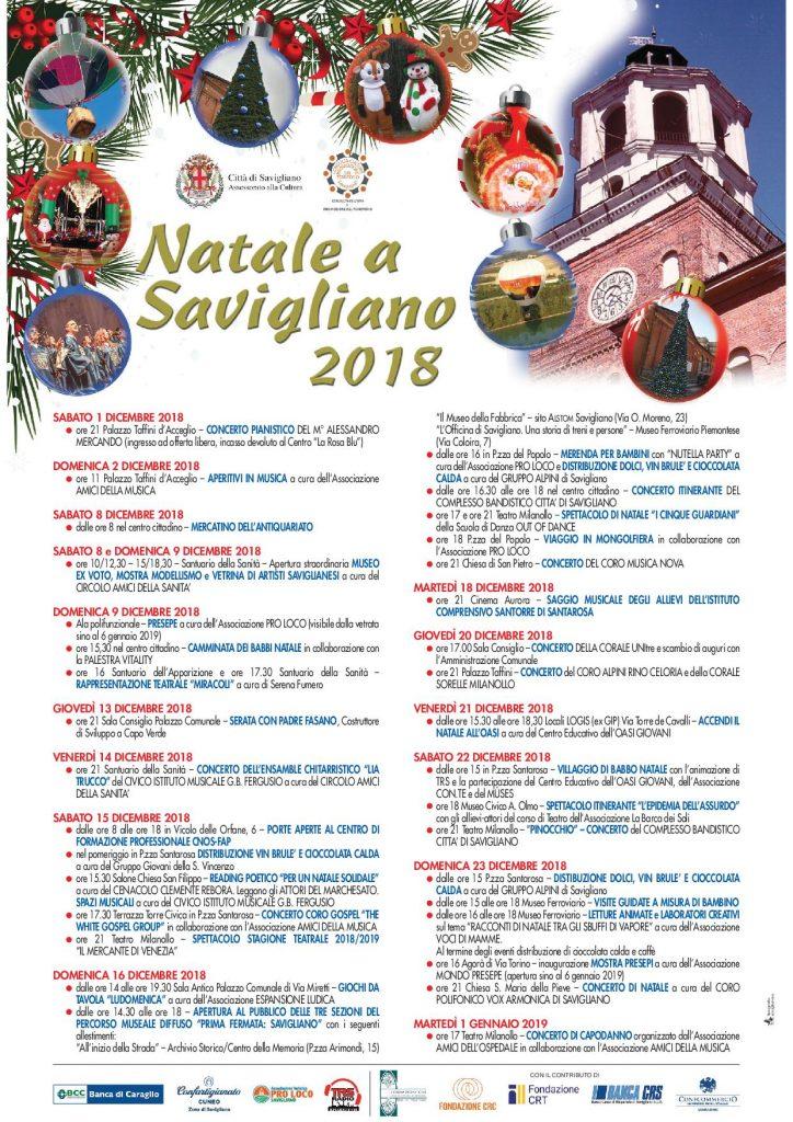Natale a Savigliano 2018