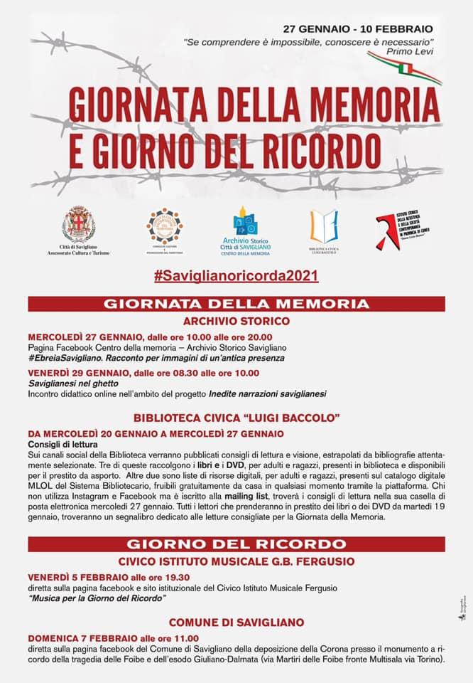 Giornata della Memoria e del Ricordo a Savigliano