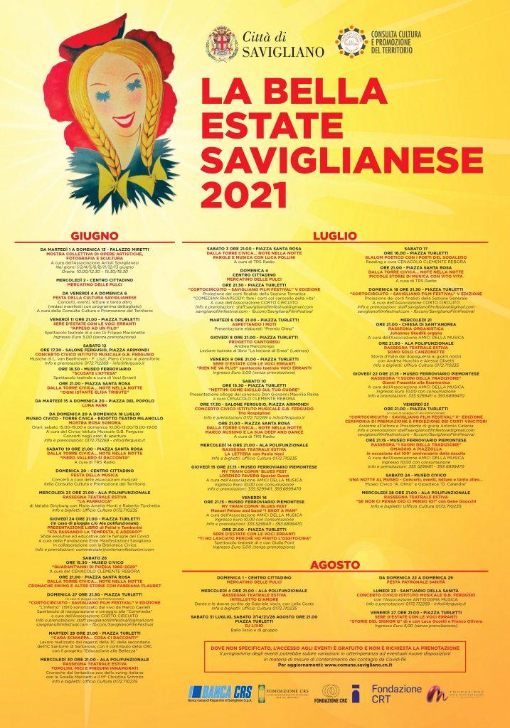 La Bella Estate Saviglianese - Giugno - Luglio - Agosto 2021